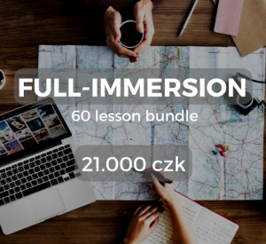 Full-immersion 60 lesson bundle 21.000 czk