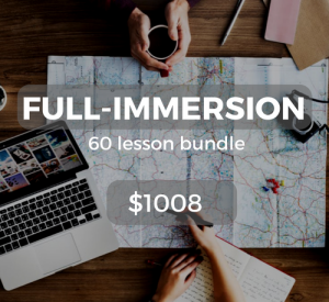 Full-immersion 60 lesson bundle $1008