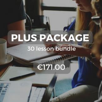 Plus package 30 lesson bundle €171.00