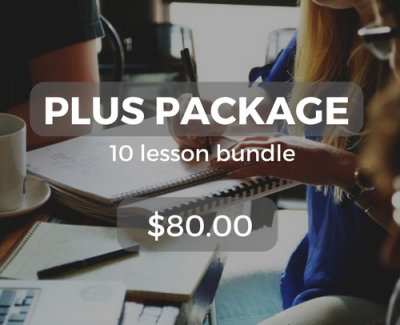 Plus package 10 lesson bundle $80.00