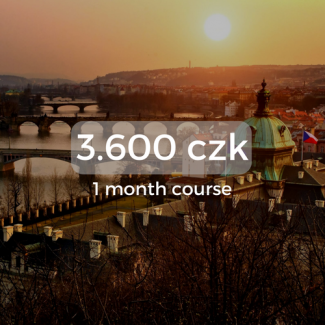 3.600 czk 1 month course
