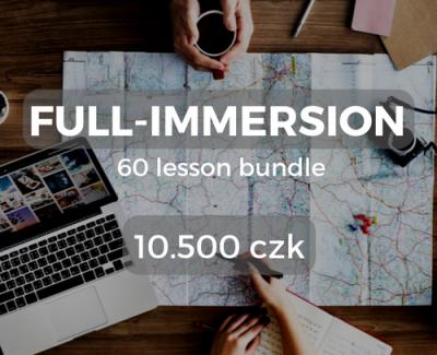Full-immersion 60 lesson bundle 10.500 czk