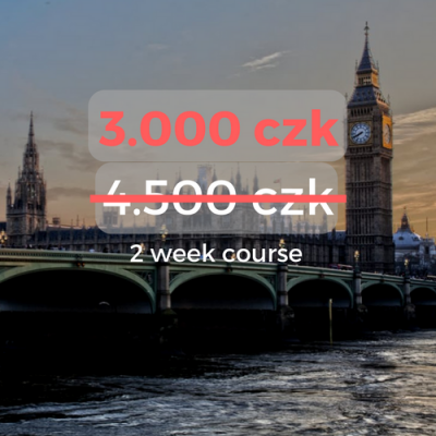 3.000 czk 2 week course
