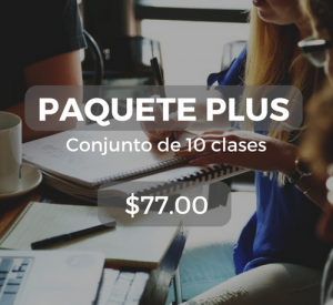 Paquete plus Conjunto de 10 clases $77.00