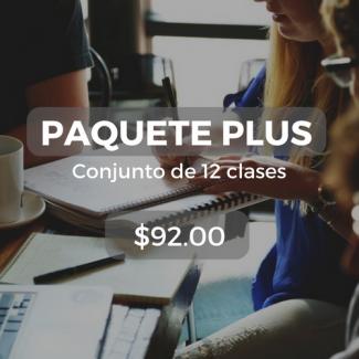 Paquete plus Conjunto de 12 clases $92.00