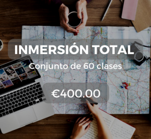 Inmersión total Conjunto de 60 clases €400.00