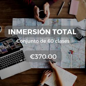 Inmersión total Conjunto de 60 clases €370.00