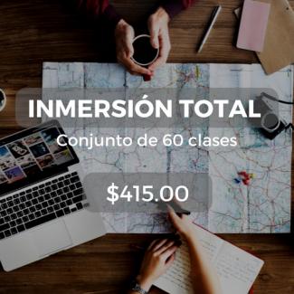 Inmersión total Conjunto de 60 clases $415.00