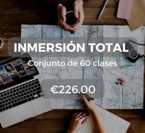 Inmersión total Conjunto de 60 clases €226.00