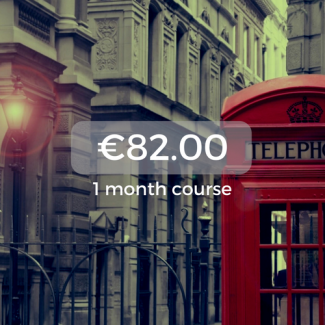 €82.00 1 month course
