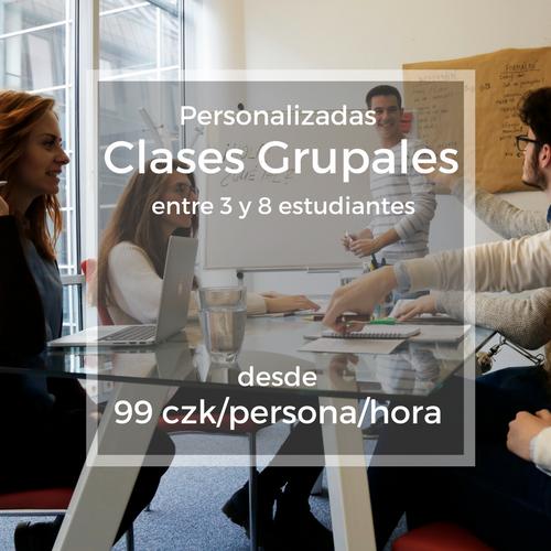 Personalizadas Clases Grupales entre 3 y 8 estudiantes desde 99 czk/persona/hora