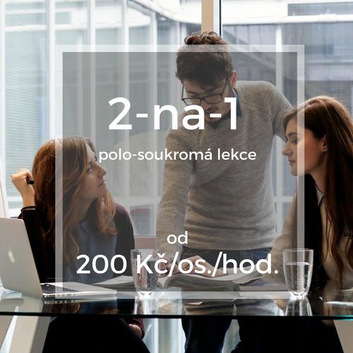 2-na-1 polo-soukromá lekce od 200 Kč/os./hod.