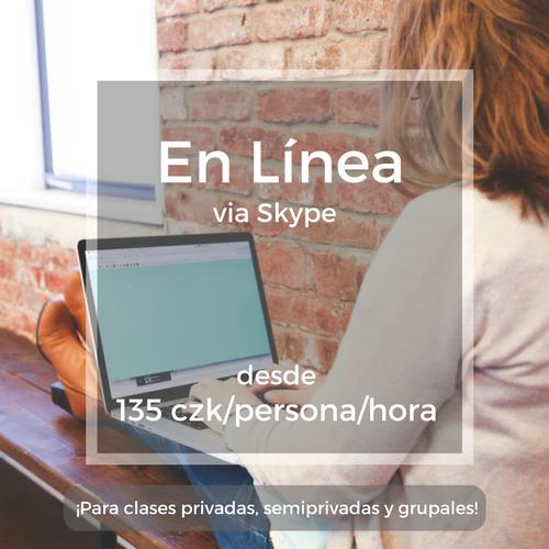 En Línea via Skype desde 135 czk/persona/hora ¡Para clases privades, semiprivadas y grupales!