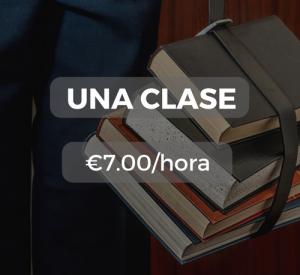 Una clase €7.00/hora
