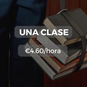 Una clase €4.60/hora