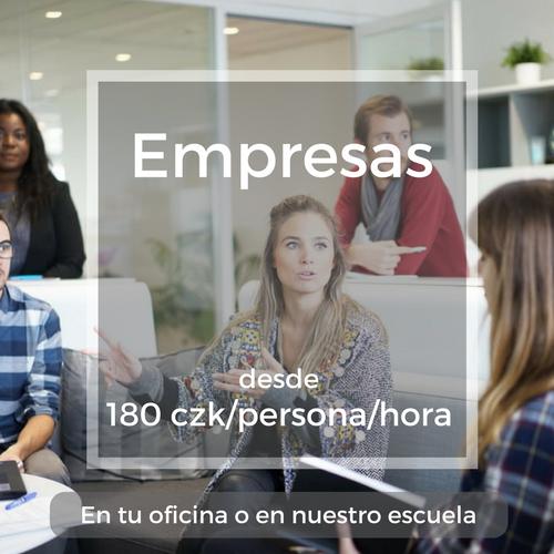 Empresas desde 180 czk/persona/hora En tu oficina o en nuestro escuela