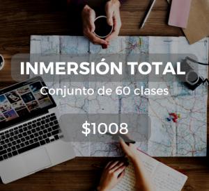 Inmersión total Conjunto de 60 clases $1008