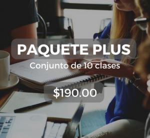 Paquete plus Conjunto de 10 clases $190.00