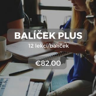 Balíček Plus 12 lekcí/balíček €82.00