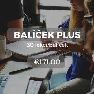 Balíček Plus 30 lekcí/balíček €171.00