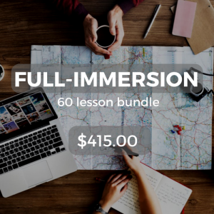 Full-immersion 60 lesson bundle $415.00