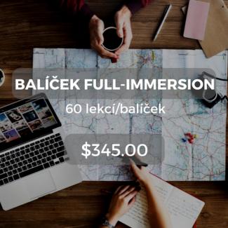 Balíček full-immersion 60 lekcí/balíček $345.00