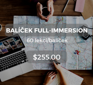 Balíček full-immersion 60 lekcí/balíček $255.00