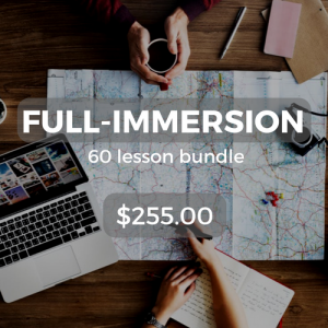 Full-immersion 60 lesson bundle $255.00