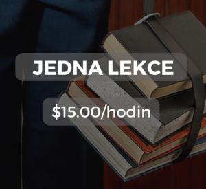 Jedna lekce $15.00/hodin