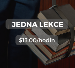 Jedna lekce $13.00/hodin