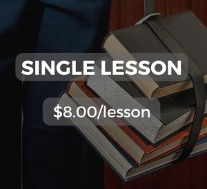Single lesson $8.00/lesson