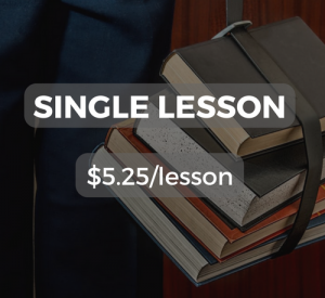 Single lesson $5.25/lesson