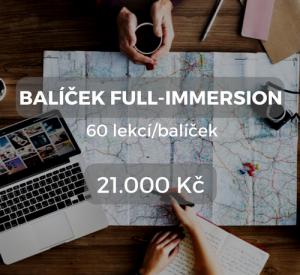 Balíček full-immersion 60 lekcí/balíček 21.000 Kč
