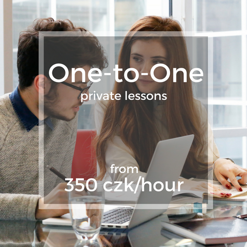 One-to-One private lessons from 350 czk/hour